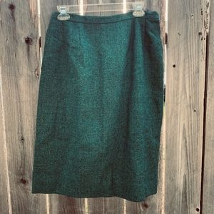 Vintage 50's Wool Pencil Skirt size 16